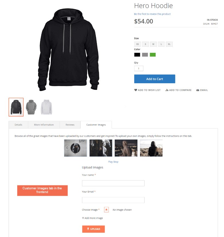 Magento 2  product images by customer extension