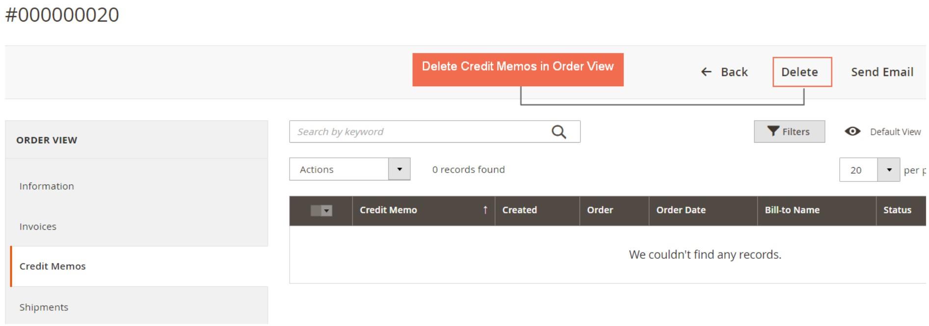 Magento 2 delete order extension