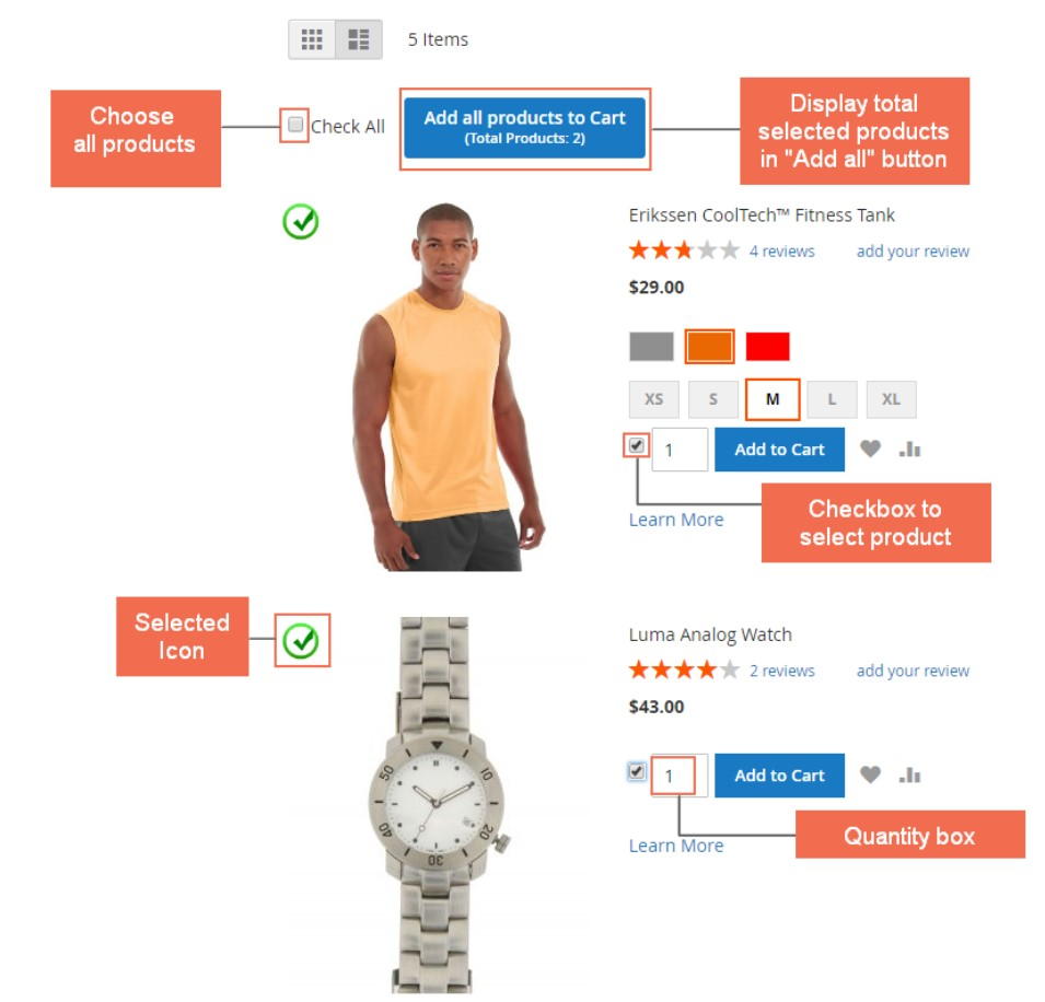Magento 2 add multiple products to cart extension