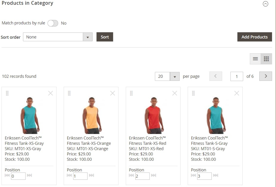 Magento 2 Visual Merchandiser Import Export