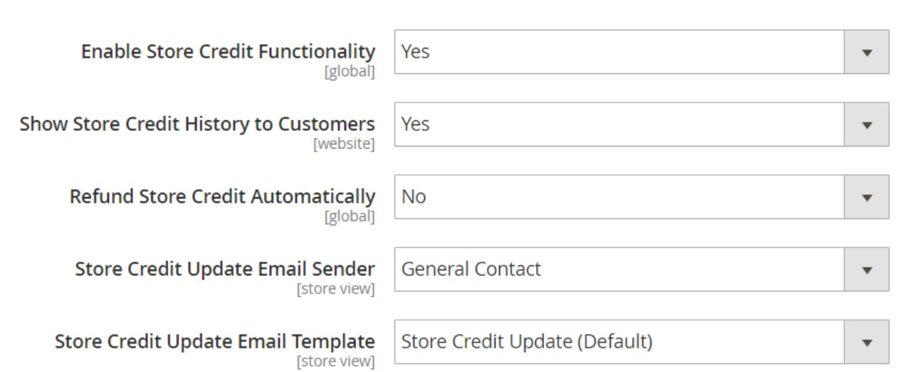 Magento 2 Store Credits Import Export