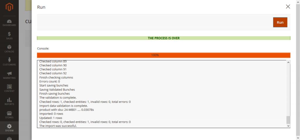 Magento 2 import export debug log