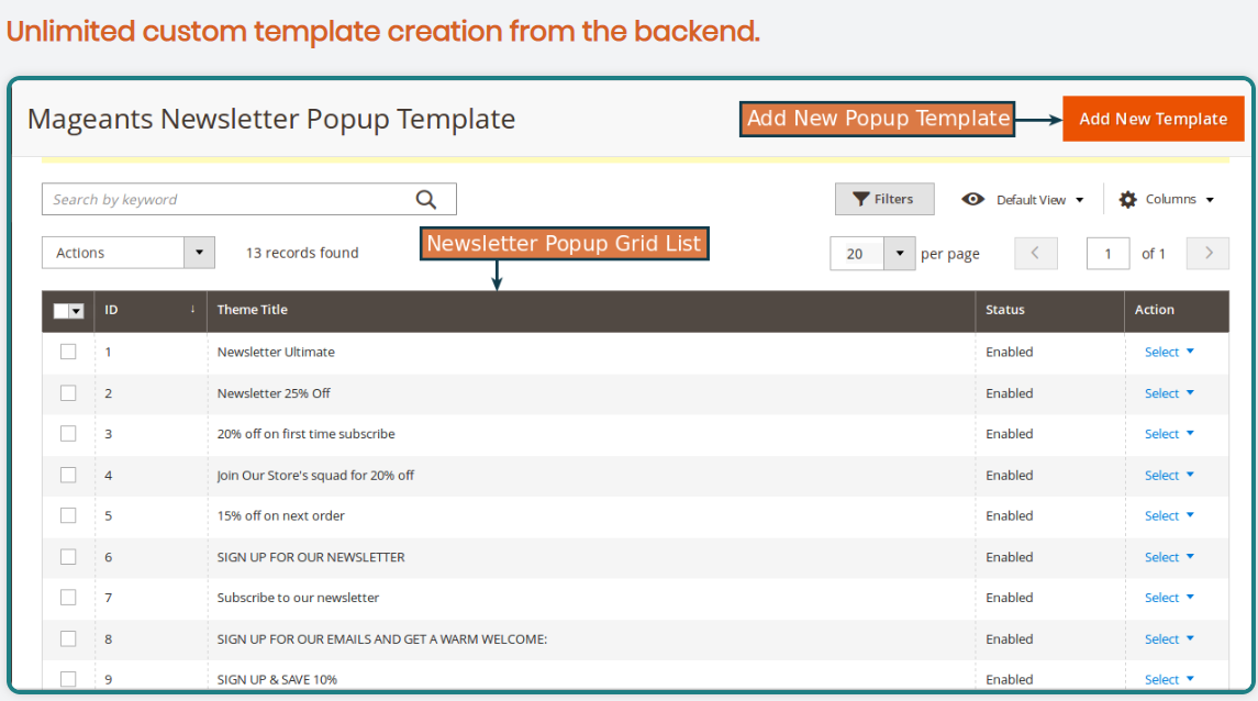 Magento 2 Newsletter Popup Extension