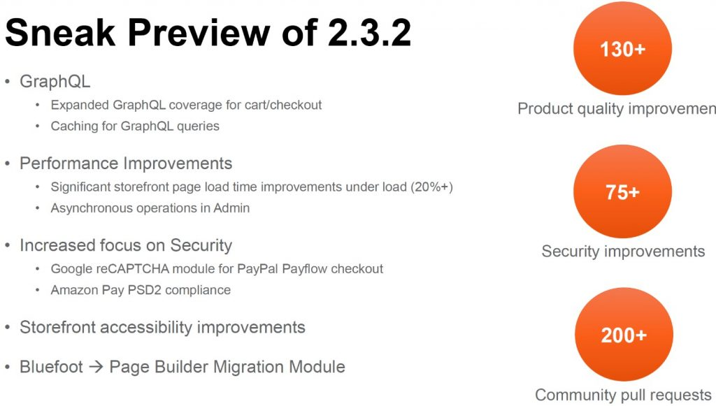 Magento 2.3.2 features