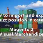 How to import and export position of the product in the category. Magento 2 visual merchandise