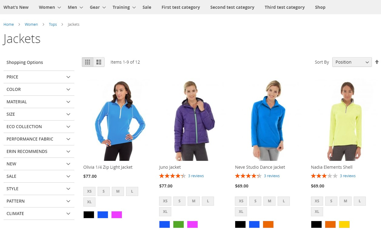 Magento 2 commerce features