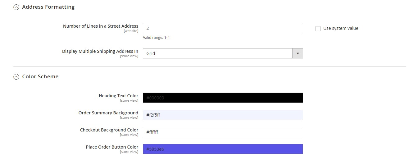 Magento 2 One Step Checkout module backend overview