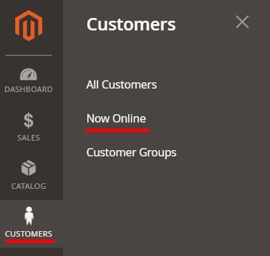 magento 2 customers now online