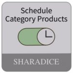 Schedule Category Products Magento 2 Extension by Sharadice