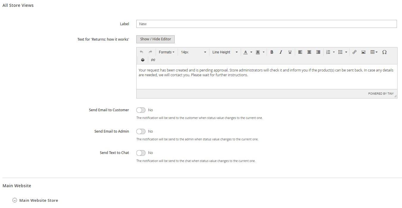 Amasty Return Order Management Magento 2 module