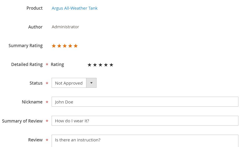 Magento 2 reviews