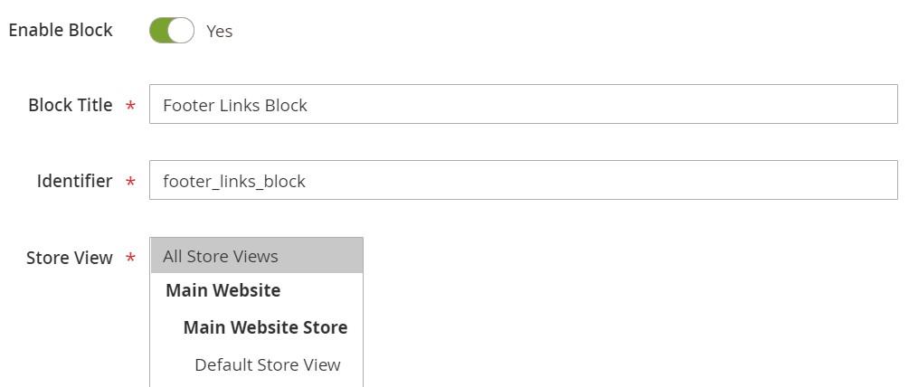 Magento 2 CMS blocks