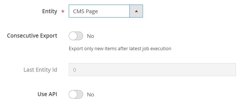 Magento 2 cms pages export