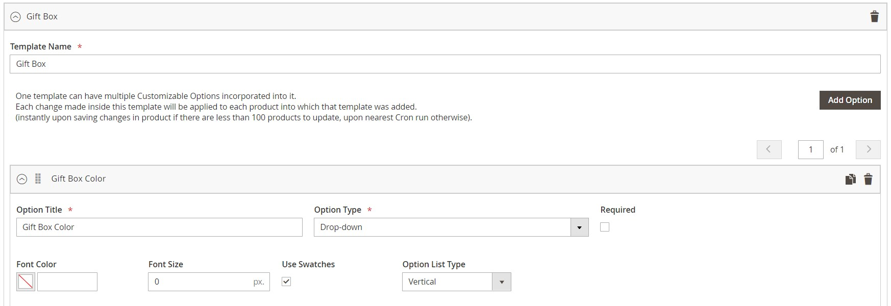 Magento 2 custom product options module