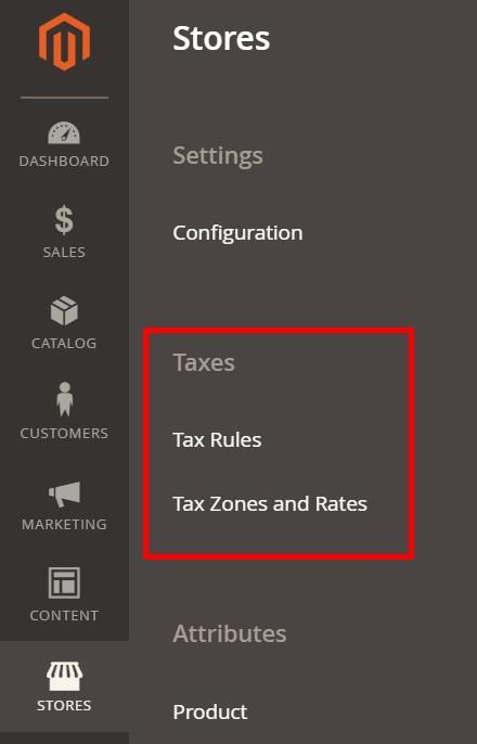 Magento 2 taxes
