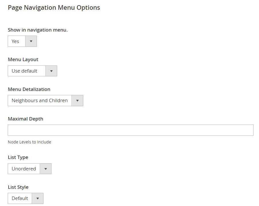 Magento 2 page hierarchy