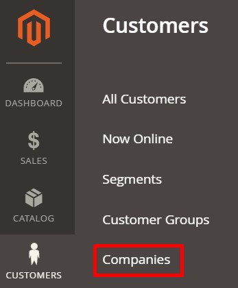 Magento 2 customers companies
