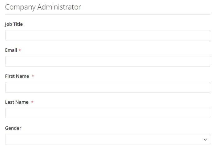 Magento 2 company account administrator