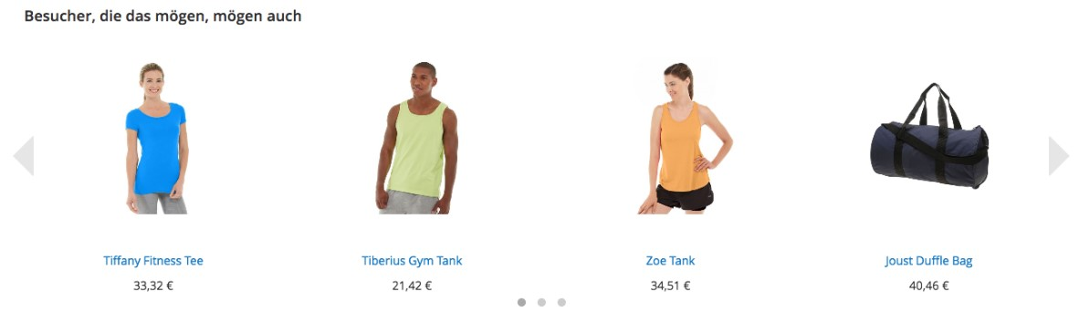 Magento 2 personalization via product recommendations