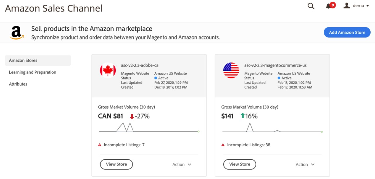 Magento 2 amazon sales channels