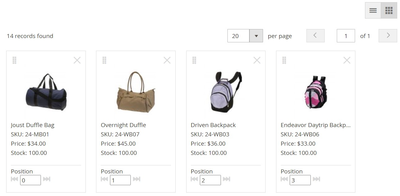 Magento 2 visual merchandiser