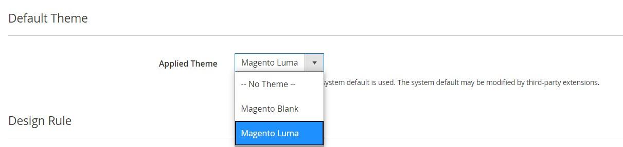 Magento 2 design configuration