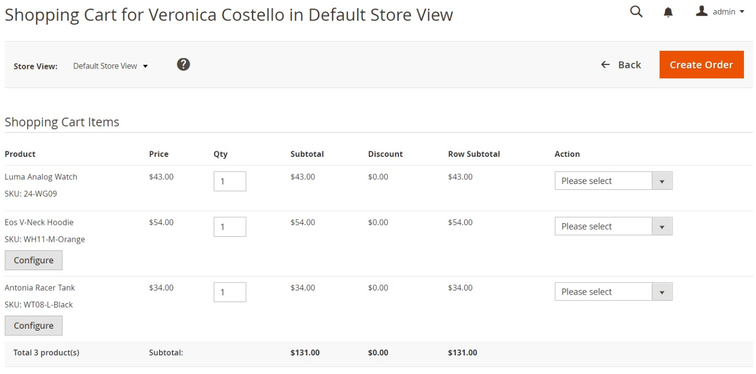 magento 2 shopping cart assistance