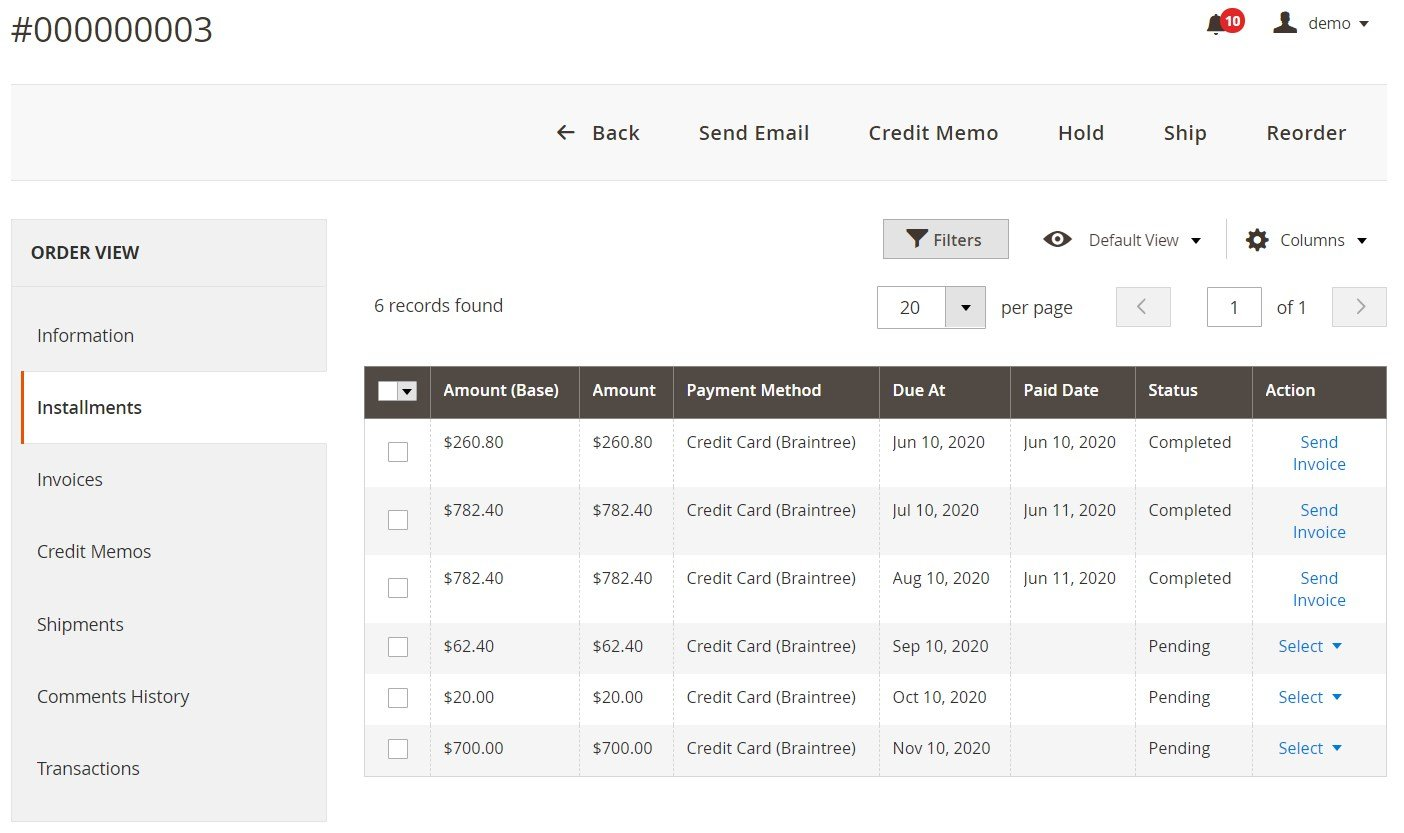 Partial Payment Pro Magento 2 extension settings