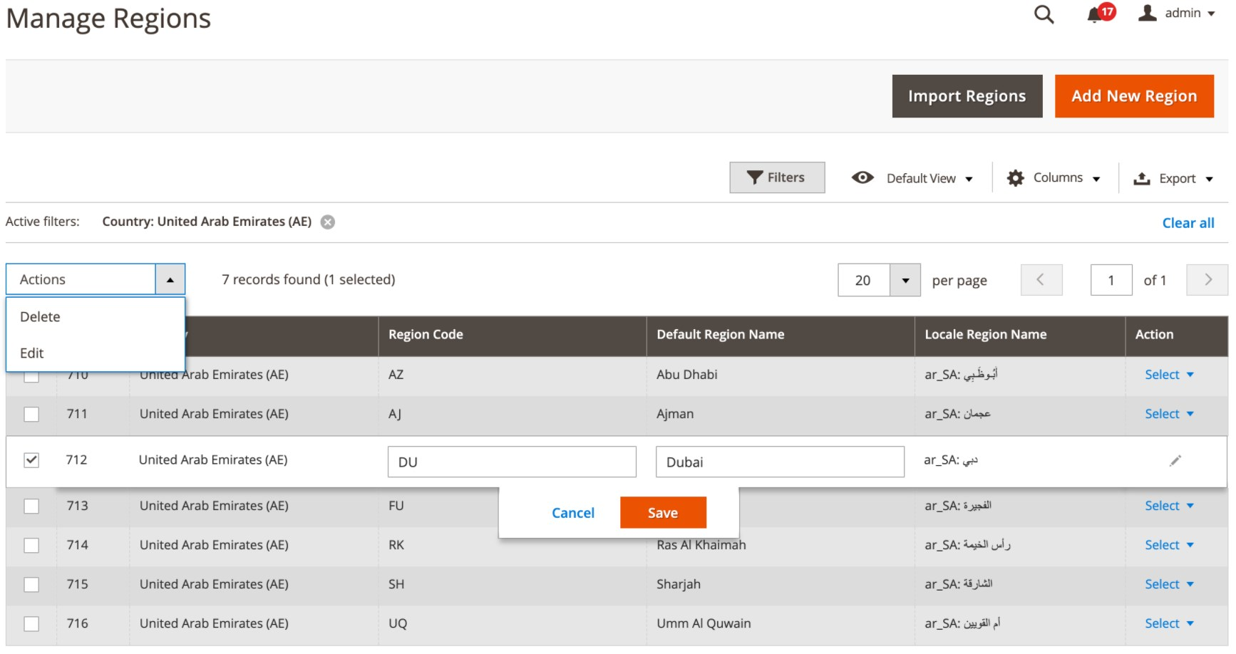Region & City Dropdown Manager Magento 2 Extension