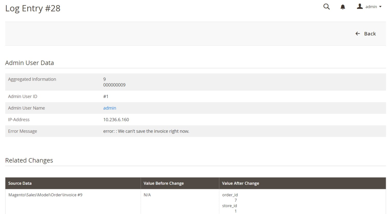 magento 2 action logs
