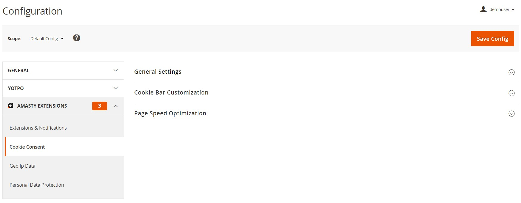 Amasty LGPD Magento 2 extension cookie consent