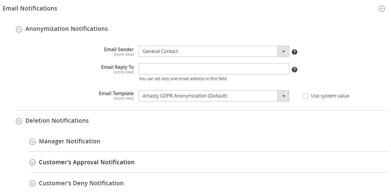 Amasty LGPD Magento 2 extension configuration