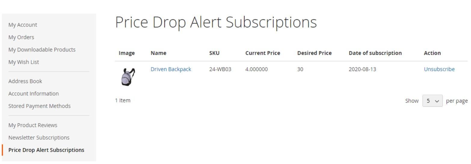 MageDelight Price Drop Alert Magento 2 Module frontend