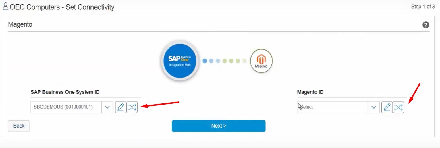 sap business one integration hub magento 2