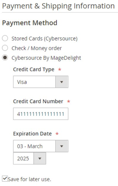 CyberSource Decision Manager Magento 2 payment gateway Extension