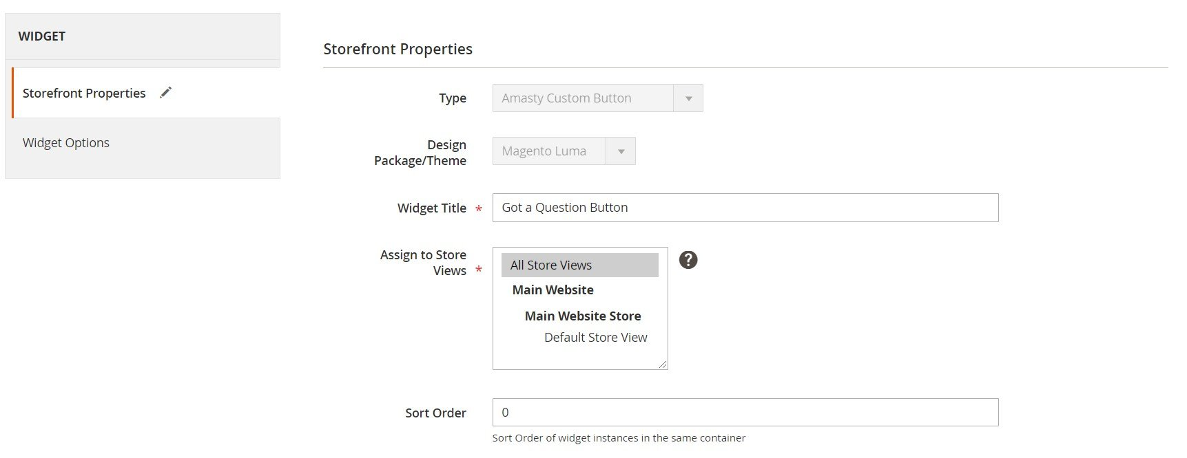 Custom Button Magento 2 module settings