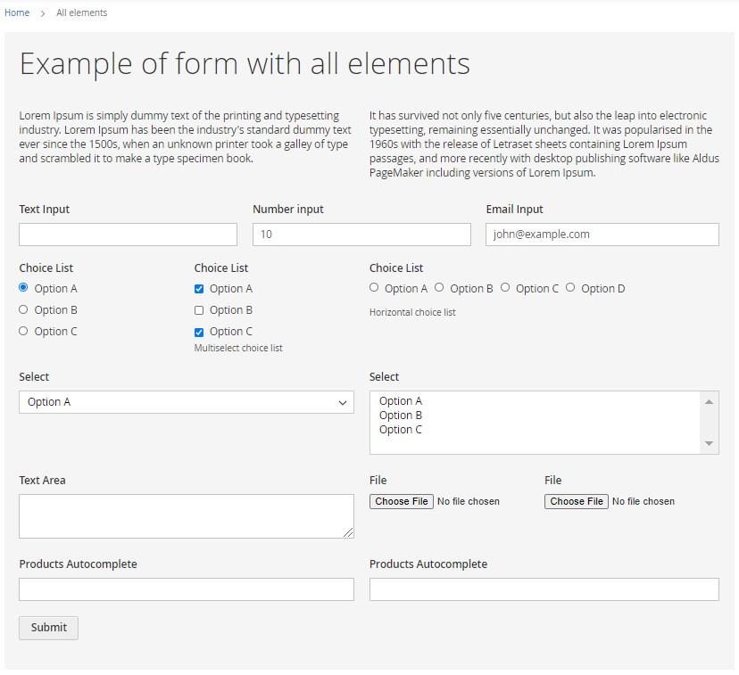 Magento 2 custom form