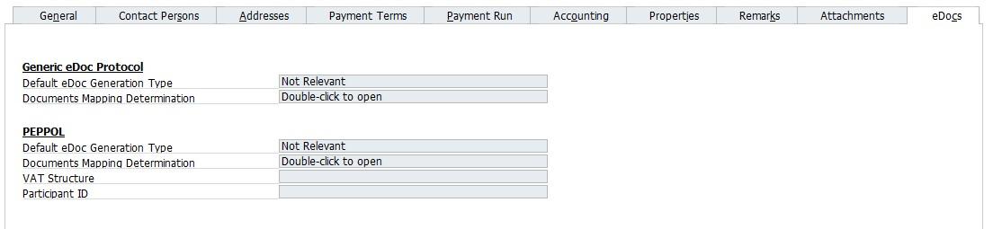SAP B1 Business Partner Master Data