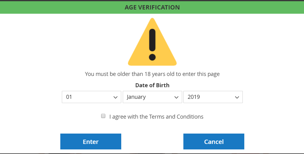 Age Verification Popup Magento 2Extension