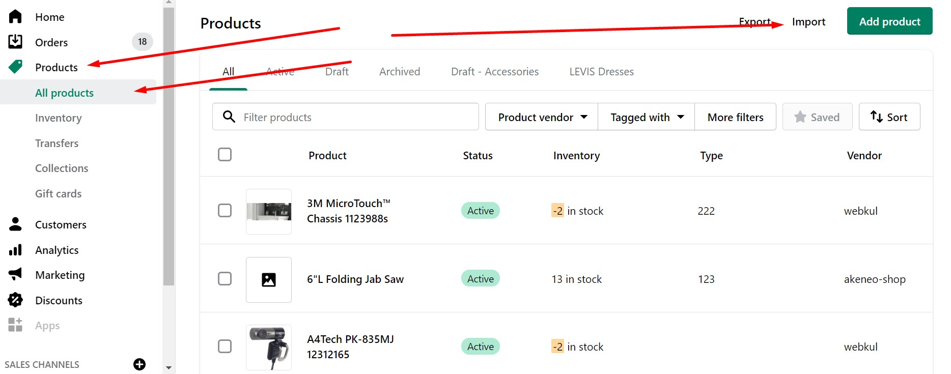 Shopify Import Guide