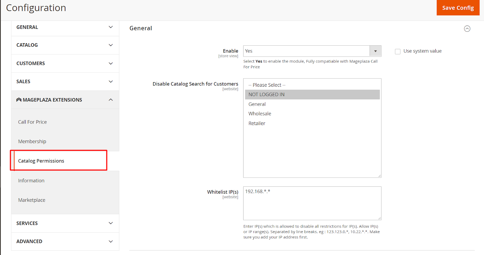 Magento 2 catalog permissions extension