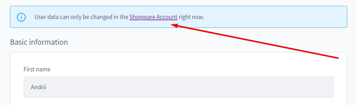 shopware 6 profile settings