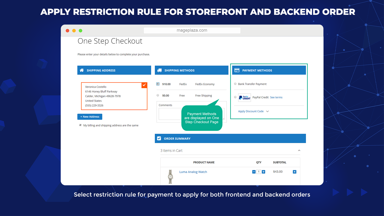 magento 2 payment restrictions extensions