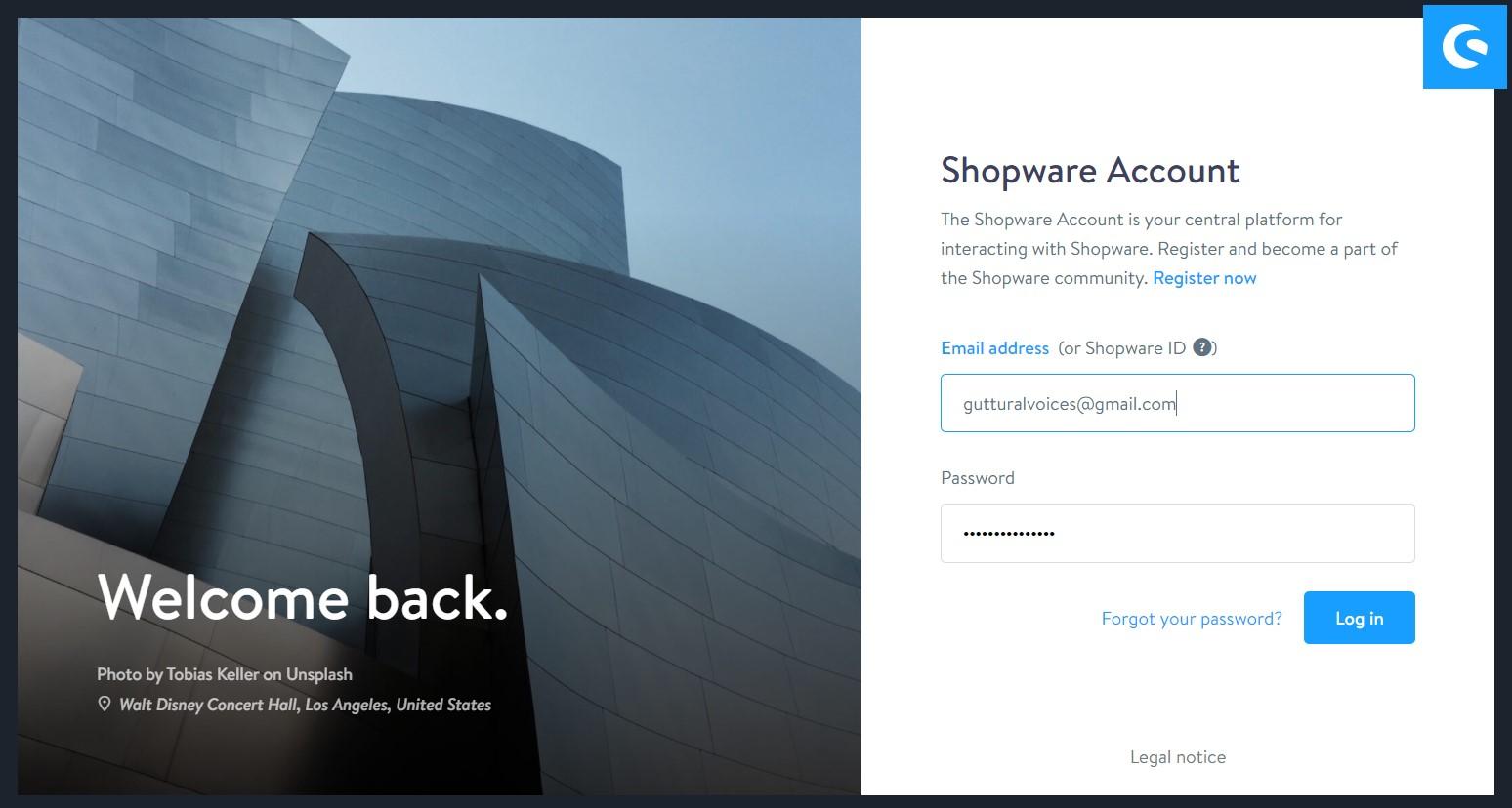 Shopware ID, Shopware Account, Shopware registration, Buy Shopware extensions