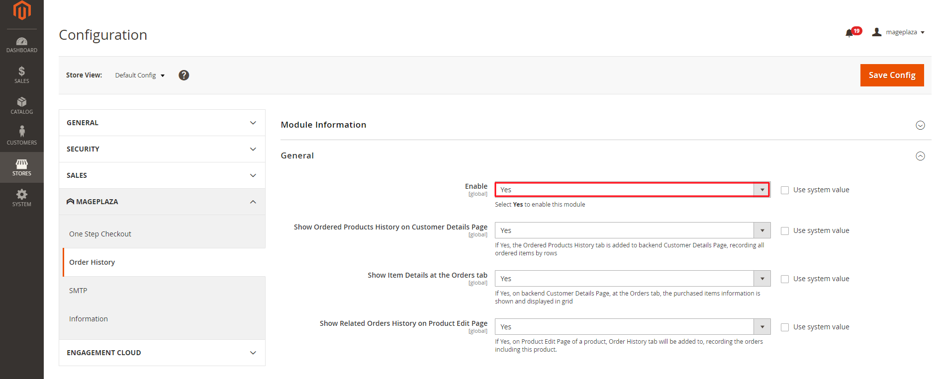 magento 2 order history extension