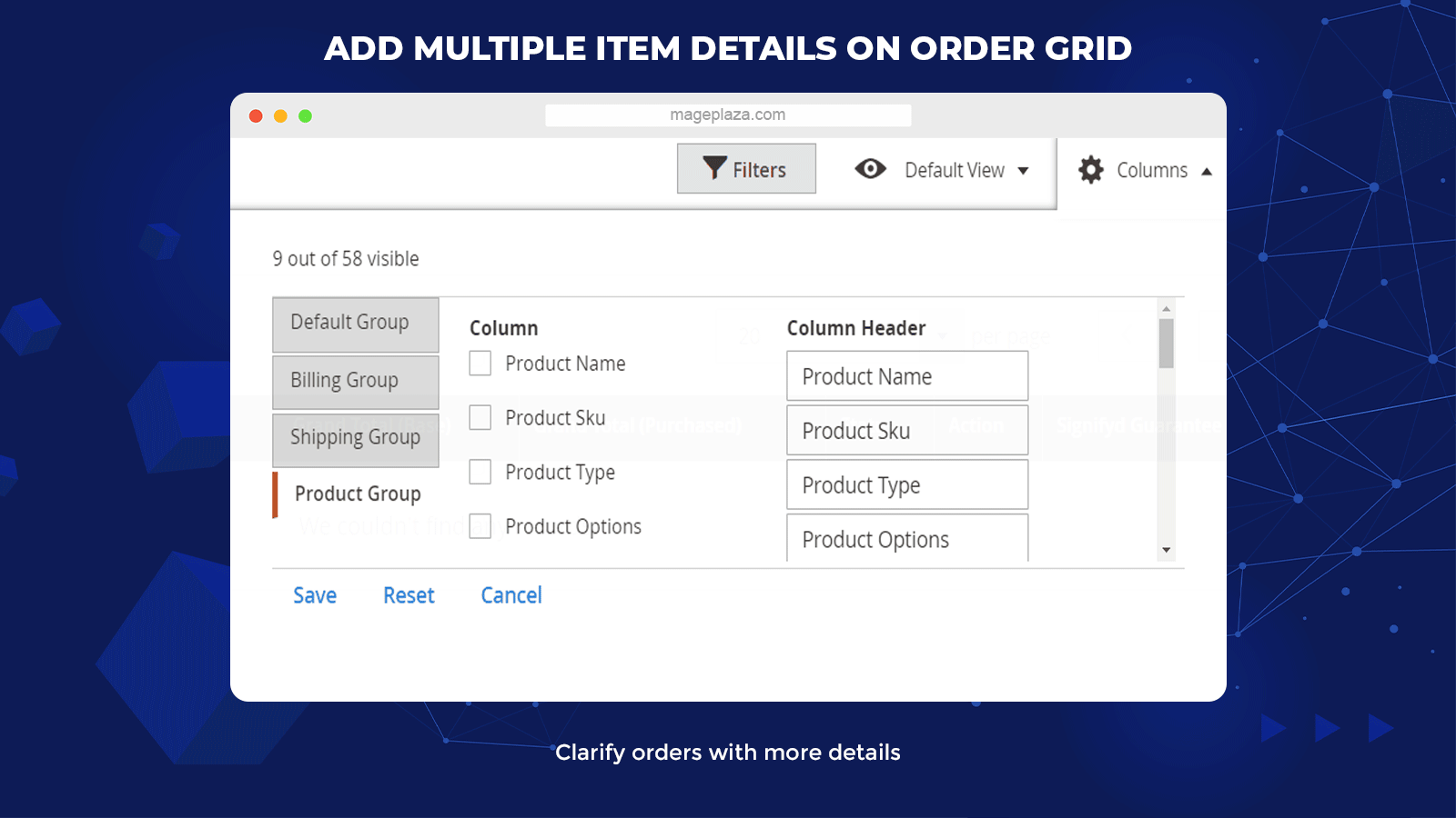 magento 2 order grid extension