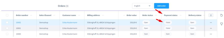 shopware 6 orders