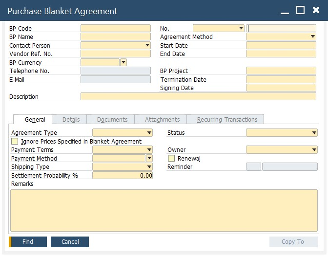 SAP B1 purchasing and A/P documents