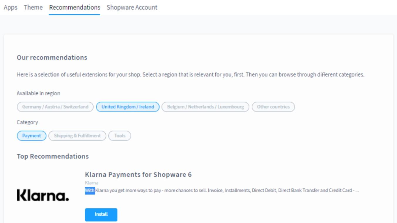 Shopware 6 extensions