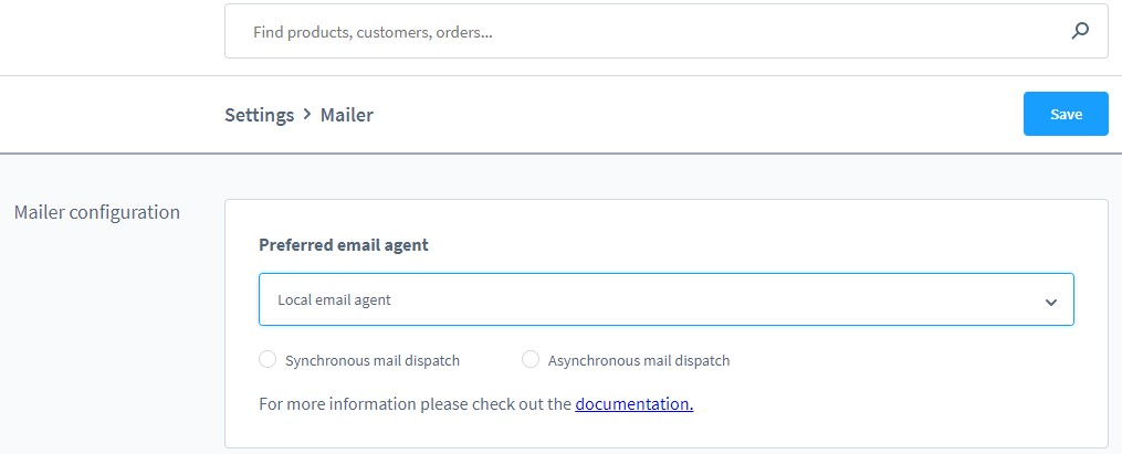 shopware6 mailer: local email agent